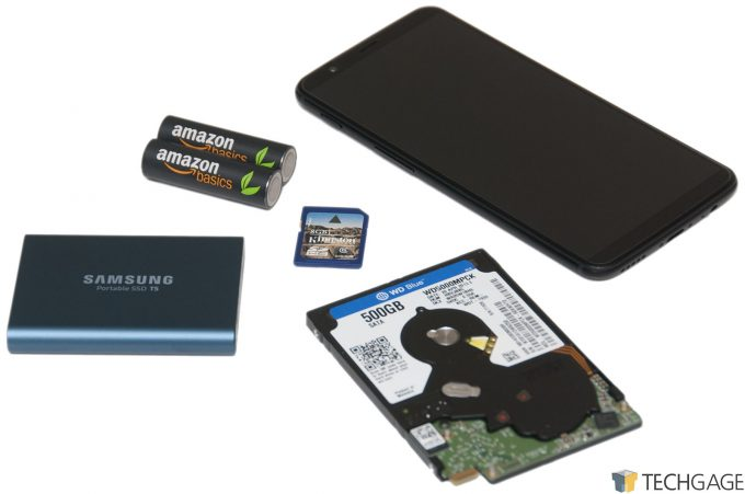 Samsung T5 Portable SSD Size Comparison