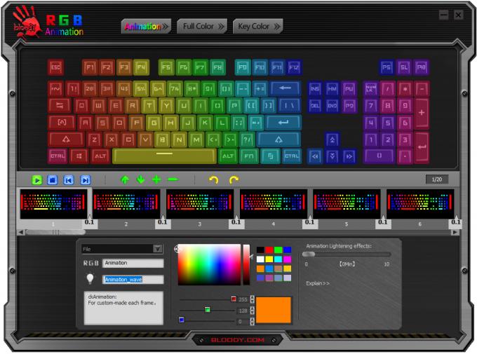 Bloody B975-LK RGB Keyboard - RGB Configuration