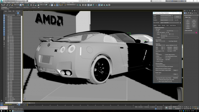Performance Testing AMD's Radeon ProRender In Autodesk 3ds Max