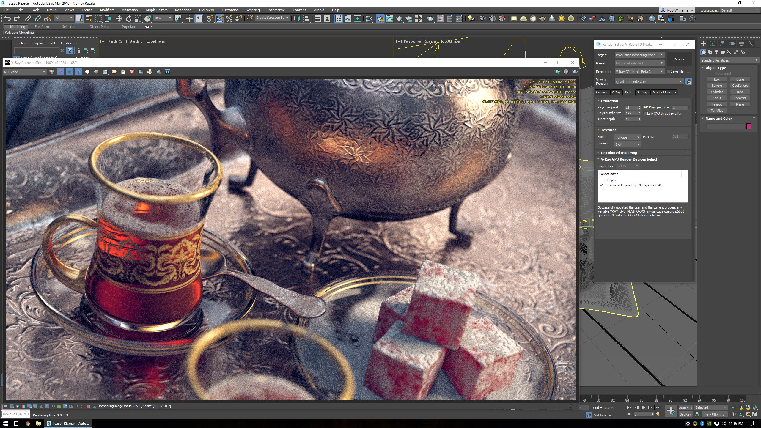 Chaos Group V-Ray 4 in Autodesk 3ds Max 2019