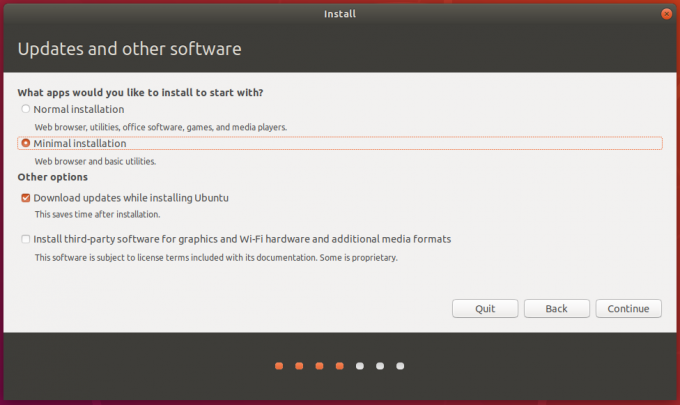 Ubuntu 1804 Minimal Install