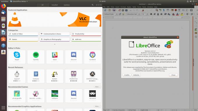 Ubuntu 18.04 Software and LibreOffice