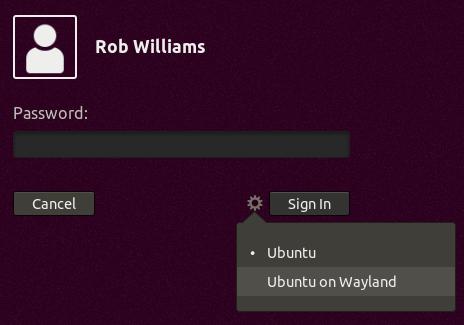 Ubuntu 1804 Wayland Option