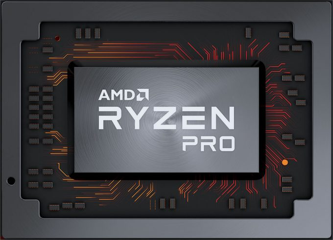 AMD Ryzen Pro 2nd Generation - Flat Chip Shot
