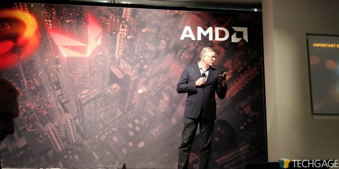 AMD Santa Clara HQ - John Taylor Doing His Thing