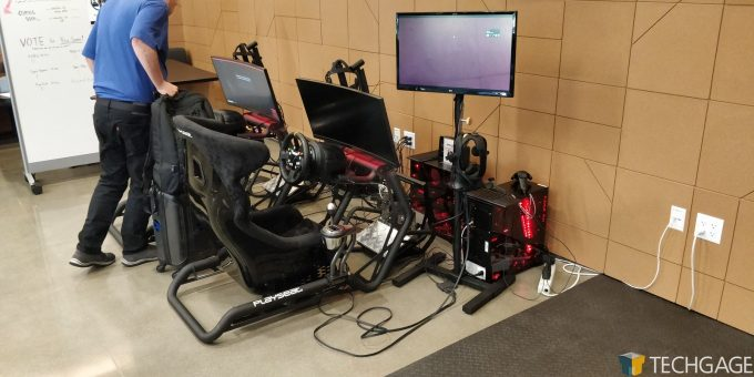 AMD Santa Clara HQ - Racing Simulators