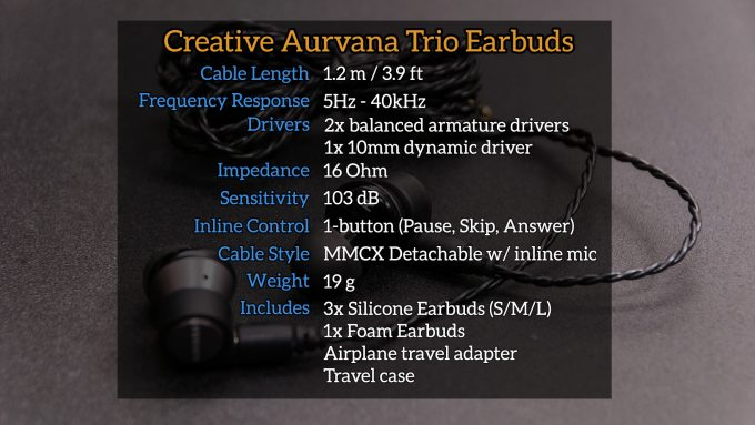 Musical Bliss  Creative Aurvana Trio IEM Review – Techgage d9cade618efb