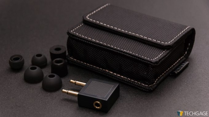 Creative Aurvana Trio Earbuds - Extra Earbuds, Traveling Case & Airplane Adapter