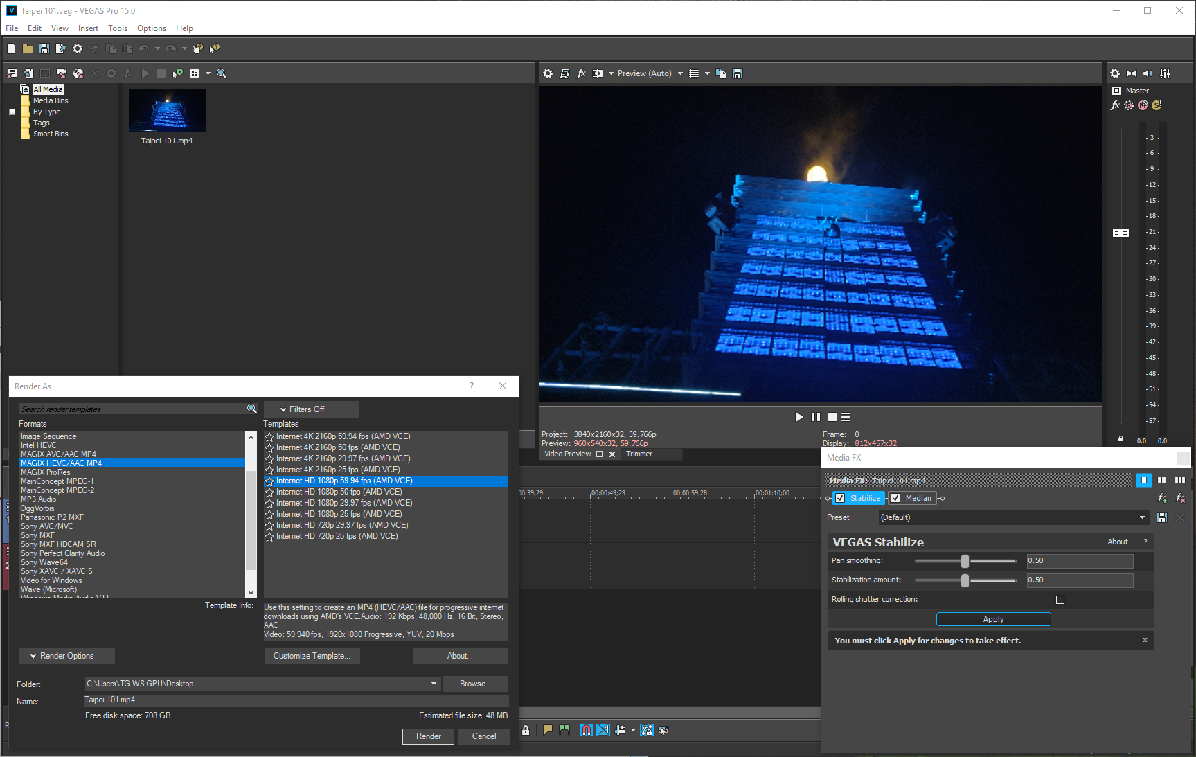 Workstation GPU Performance Testing: Redshift, Blender & MAGIX Vegas