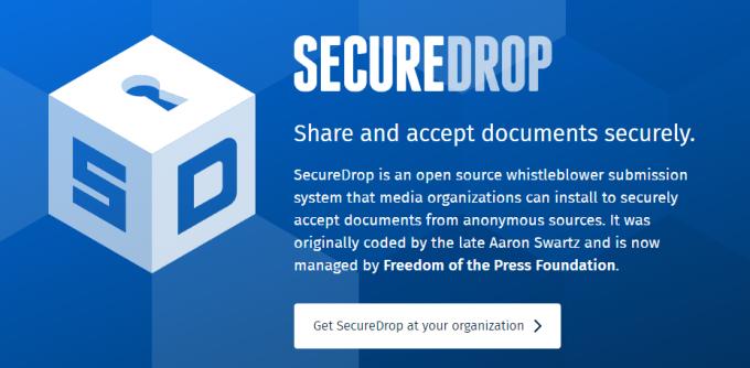 SecureDrop Homepage