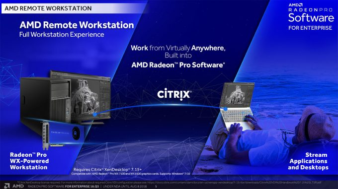 AMD Radeon Pro Enterprise 18Q3 - Citrix Support