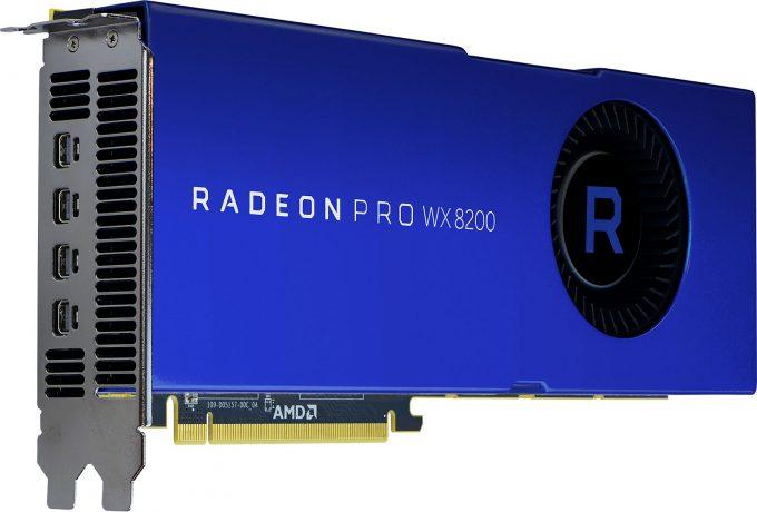 AMD Radeon Pro WX 8200 Workstation Graphics Card