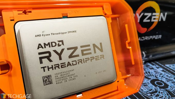 AMD Ryzen Threadripper 2990WX In Its Protective Case
