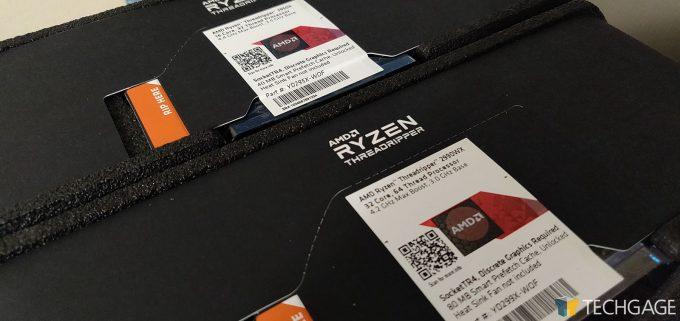 AMD Ryzen Threadripper 2990WX and 2950WX Packaging