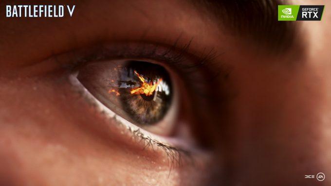 Battlefield V Eye Reflection with NVIDIA RTX