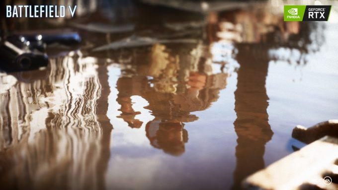 Battlefield V Puddle Reflection with NVIDIA RTX