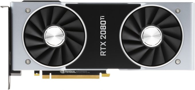 NVIDIA GeForce RTX 2080 Ti - Fans Top View