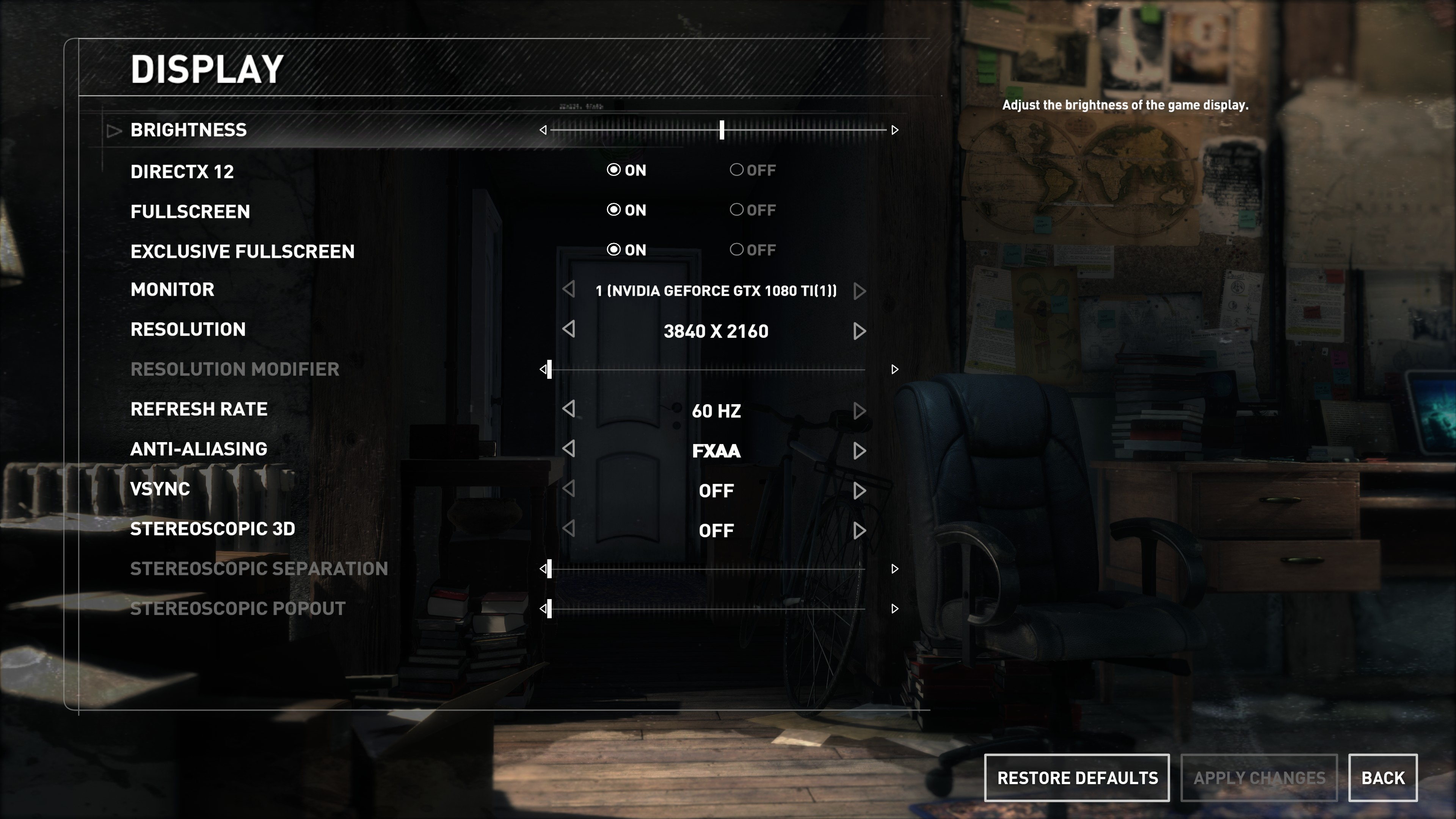 the hunter call of the wild game settings