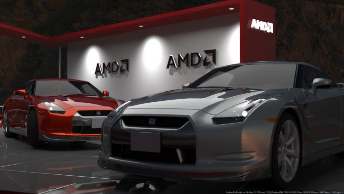 AMD Radeon ProRender - Vehicle Scene