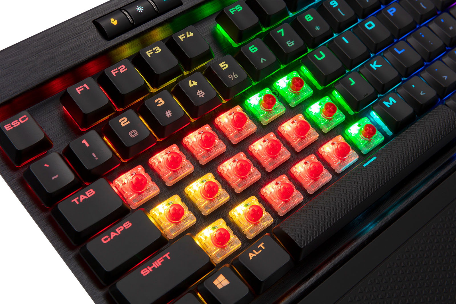 Corsair Launches K70 Rgb Mk2 Mechanical Keyboards With Low Profile Gaming Strafe Cherry Mx Red Switches Techgage