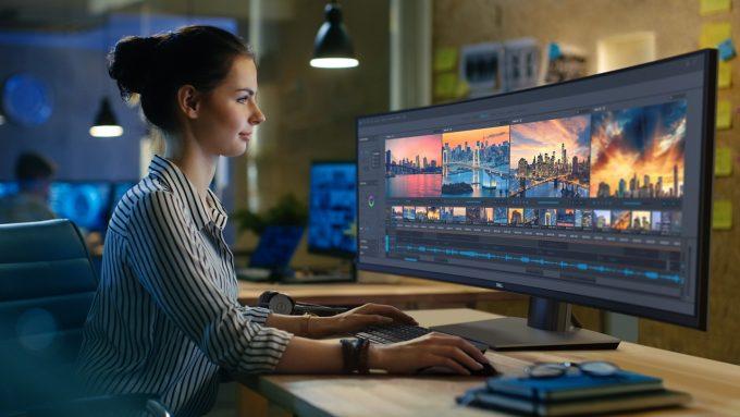Dell U4919DW Ultrawide Stock Photo