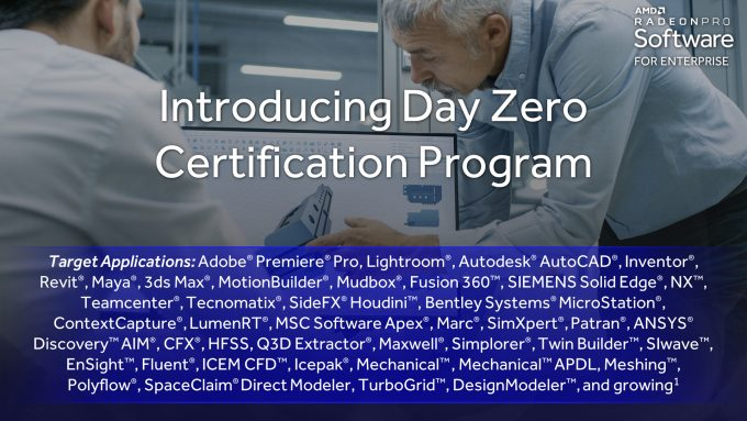 AMD Radeon Pro Day Zero Certification