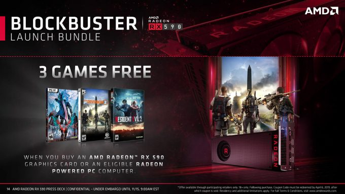 AMD Radeon RX 590 Launch Game Bundle Promotion