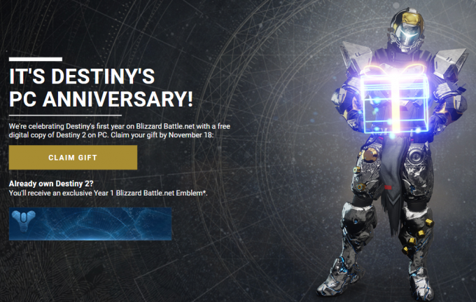Destiny 2 Free Offer