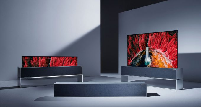 LG OLED65R9PUA 4K Rollable TV