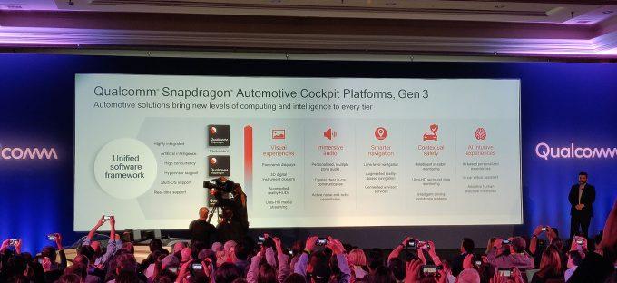 Qualcomm Automotive Cockpit Platform Gen3 SoC Features