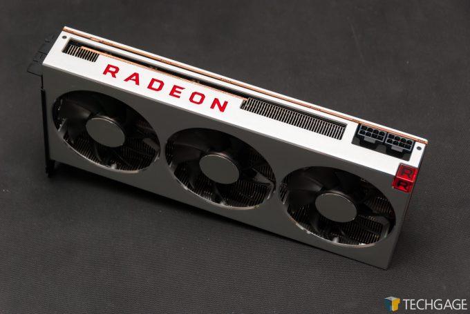 AMD Radeon VII - Top View