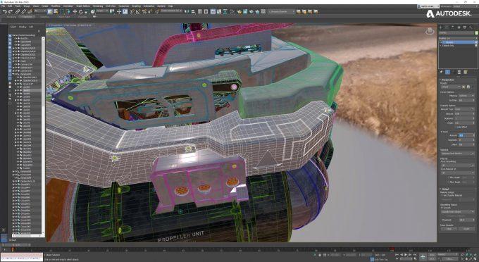 Autodesk 3ds Max 2020 Chamfer Modifier