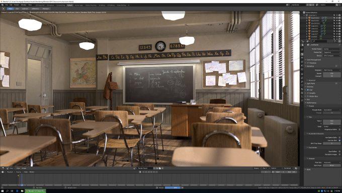 Blender Classroom Render