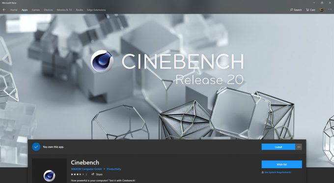 MAXON Releases Cinebench R20, Enhances CPU Test, Drops GPU Test