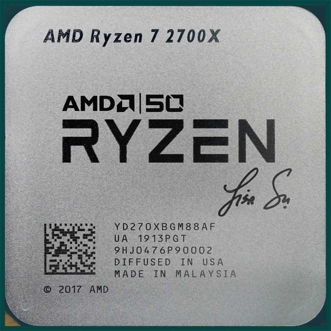 AMD Ryzen 7 2700X Inscribed With Lisa Su's Signature