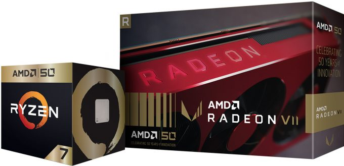 AMD Ryzen 7 2700X & Radeon VII 50th Anniversary Editions