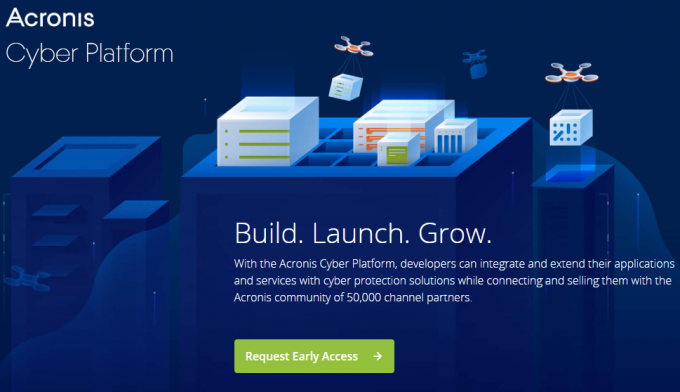 Acronis Cyber Platform Landing Page