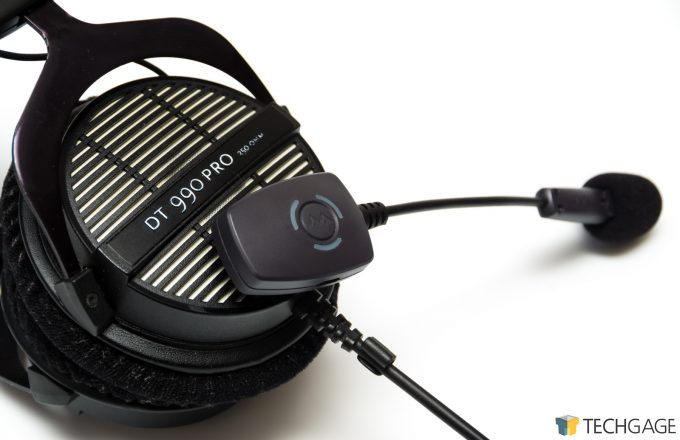 Antlion ModMic Wireless Mounted On Headphones DT990 Pro