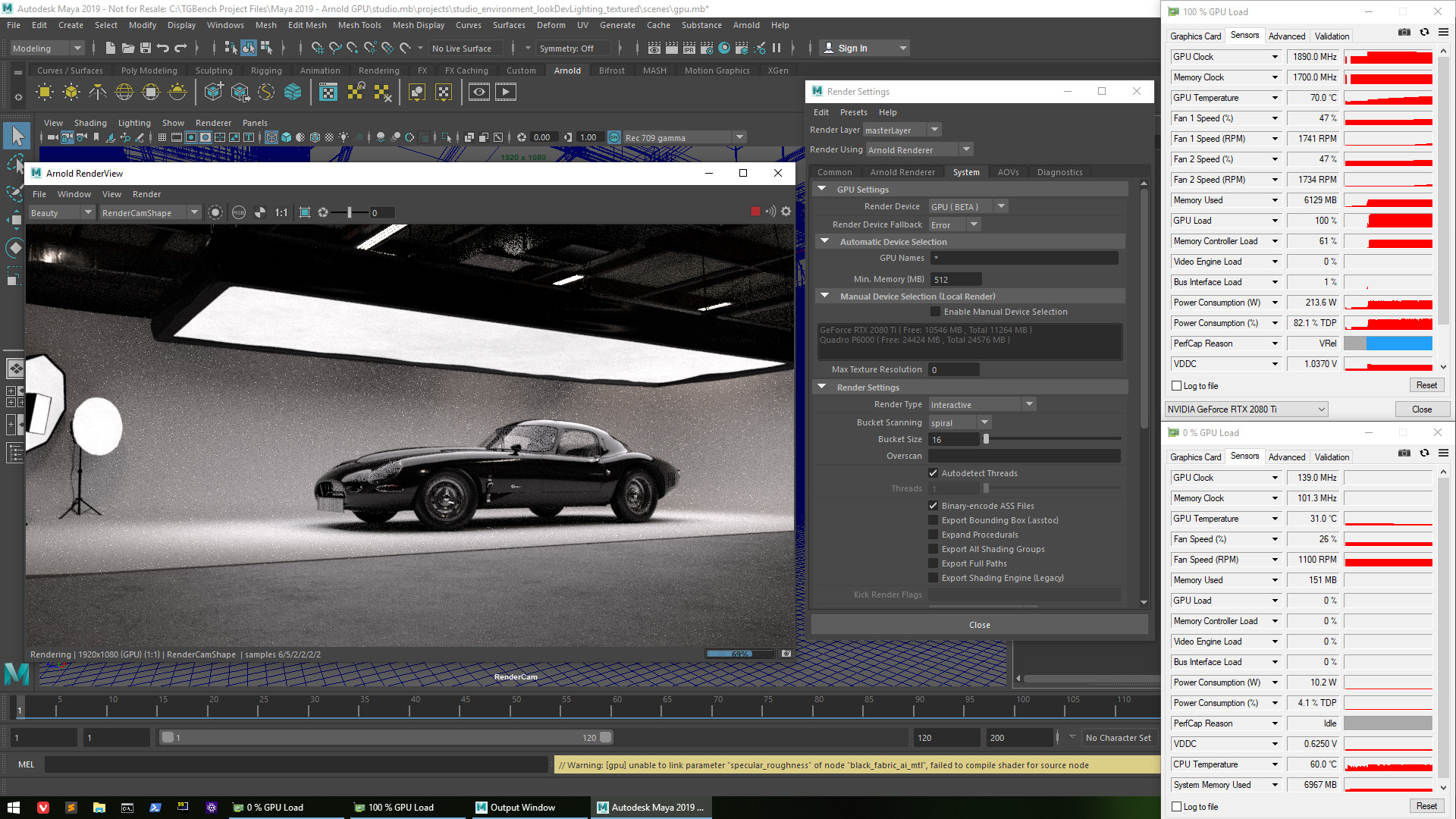 Exploring Performance With Autodesk's Arnold Renderer GPU Beta