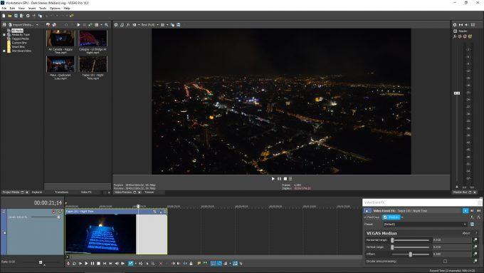 MAGIX Vegas Pro 16 - Median FX Filter Test