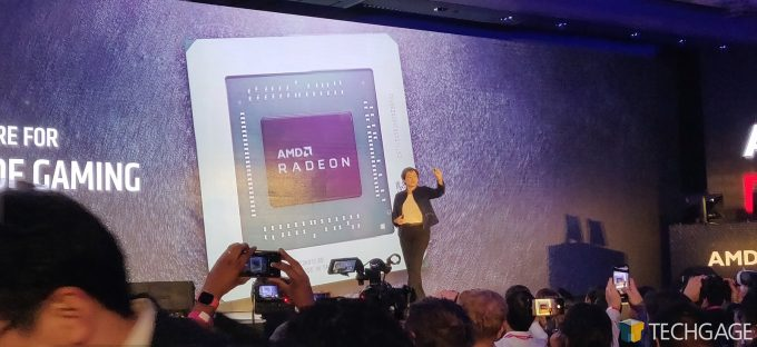 AMD Computex 2019 Keynote Navi GPU Die