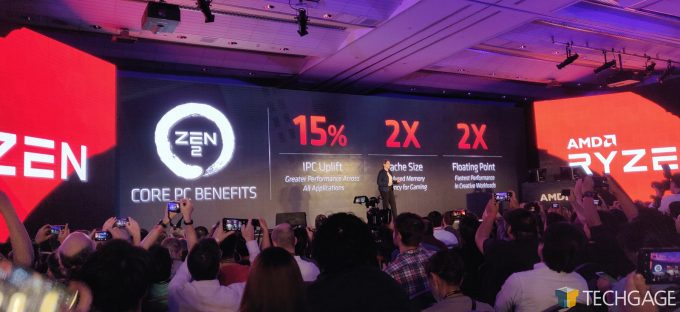AMD Computex 2019 Keynote Zen 2 Basic Spec Improvements