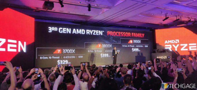 AMD Computex 2019 Keynote Zen 2 Line-up