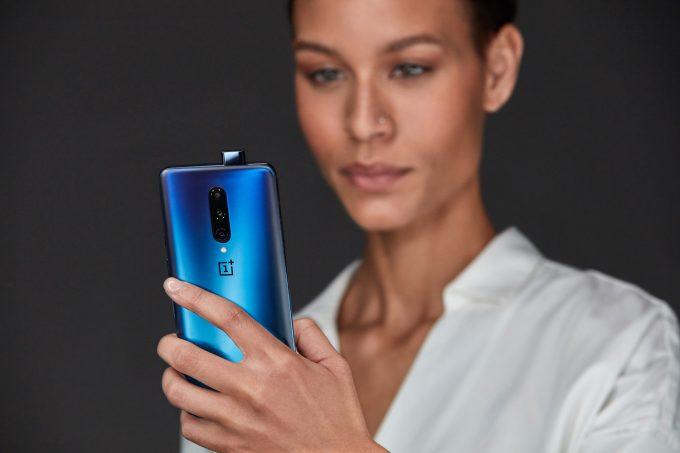 OnePlus 7 Pro Nebula Blue Promo Shot