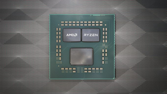 AMD Zen 2 Ryzen Package Stylized