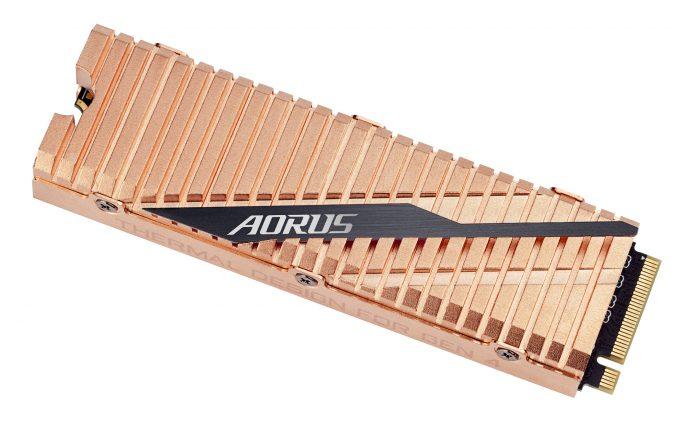 AORUS NVMe Gen4 SSD WEB top side left