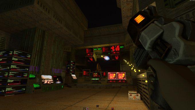 Quake II RTX - Dark Environment Lit With Blaster