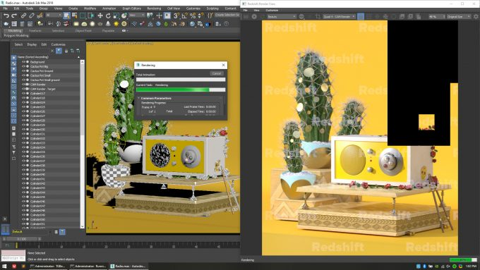 Redshift in Autodesk 3ds Max 2019