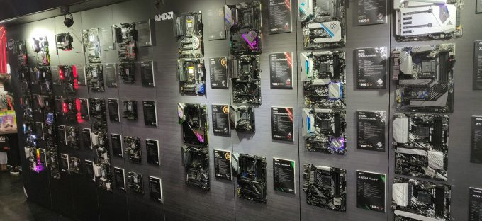 Wall of Acer X570 Motherboards