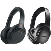 Bose QuietComfort 35 II and Sony WH-1000XM3 Noise-canceling Headphones